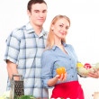 Couple of cooking together - Stock Photo