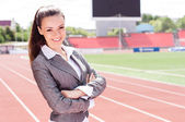 портрет женщины красивые бизнес — Стоковое фото
