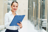 Portrait of a beautiful business woman — Foto de Stock