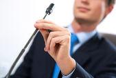 бизнесмен на совещания — Стоковое фото