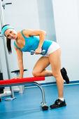 Manubrio atleta femminile — Foto Stock