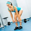 Young woman doing body-building in the Gym - Stock fotografie
