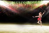 Desempenho de jovens patinadores, show no gelo — Foto Stock