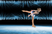Performance of young skaters, ice show — Foto de Stock