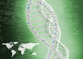 DNA helix against the colored background — Stock Photo
