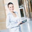 Business woman with tablet pc — Stock Photo
