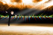 若いスケーター、氷ショーの性能 — ストック写真