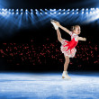 Performance of young skaters, ice show - Stock Photo
