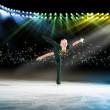 Performance of young skaters, ice show — Stock Photo #21817813