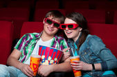 Couple in cinema — Foto de Stock