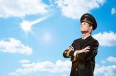 Piloto é sob a forma de braços cruzados — Foto Stock