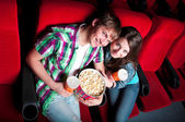 Couple in cinema — Stockfoto