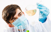 Portrait of a scientist working in the lab — Stock Photo