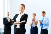 Mulher de negócios bem sucedido — Fotografia Stock