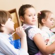 Children paint easels — Stock Photo #26133803
