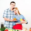 Couple of cooking together — Stock Photo #26600551