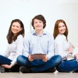 Portrait of a group of young — Stock Photo