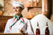 Retrato de um cozinheiro — Fotografia Stock