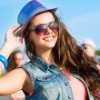 Stock Photo: Stylish young womin sunglasses