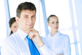 Young successful businessman — Stock Photo