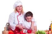 Madre e hija la cena — Foto de Stock