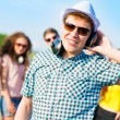 Young man in sunglasses — Stock Photo