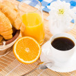 Continental breakfast — Stock Photo