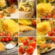 Stock Photo: Pasta and cherry tomatoes, collage