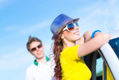 Attractive woman in sunglasses — Stock Photo