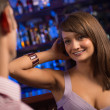 Nice woman at the bar — ストック写真