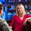 Nice woman at the bar — Stock fotografie
