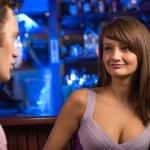Nice woman at the bar — Foto Stock