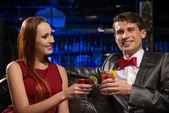 Couple in a nightclub — Stock Photo