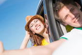 Country car trip — Stock Photo