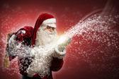 Santa Claus and the magic — Stock Photo