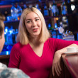nice woman at the bar — Stock Photo