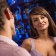 woman at the bar — Stockfoto