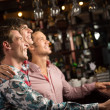 Fans in the bar — Stock Photo