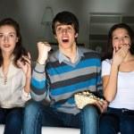 People watching TV — Stock Photo #34993311