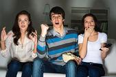 People watching TV — Foto Stock