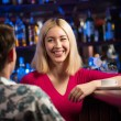 Portrait of a nice woman at the bar — Foto de Stock