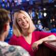 Portrait of a nice woman at the bar — Stock fotografie