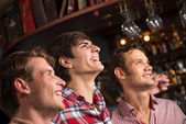 Portrait of the fans in the bar — Stock Photo