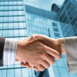Handshake of two businessmen — Foto Stock