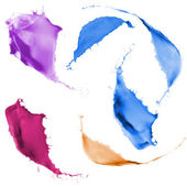 Colored paint splashes — Stock Photo
