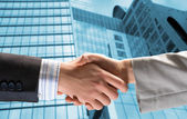 Handshake of two businessmen — Stock Photo