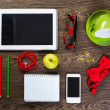 Items laid on the table — Stock Photo #37568815