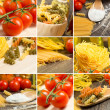 Pasta and cherry tomatoes — Stock Photo