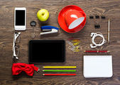 Items laid on the table — Stock Photo