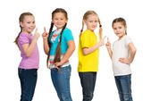 Small group of girls — Stock Photo